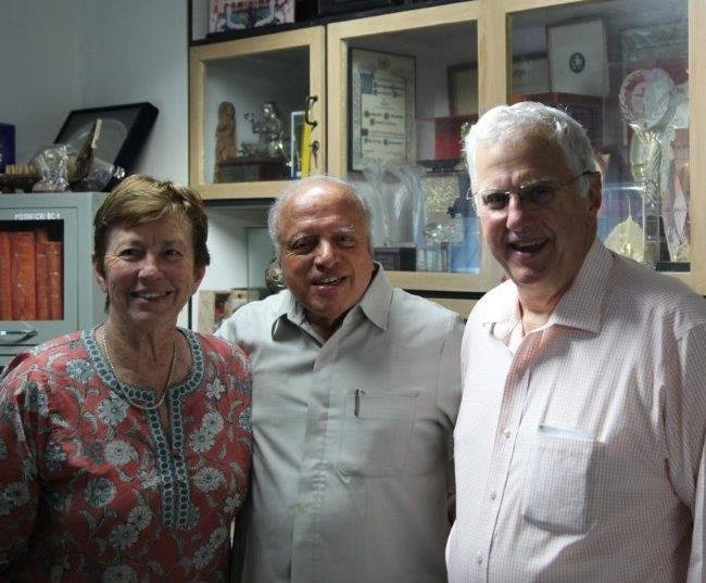 Dr. and Betty Alberts with M.S. Swaminathan