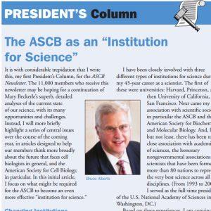 ASCB President's Column Small