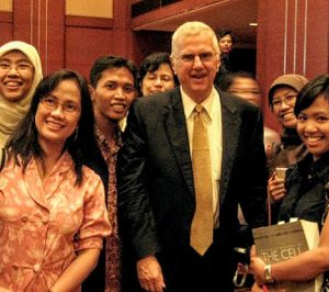 Bruce with young Indonesian scientists - small version