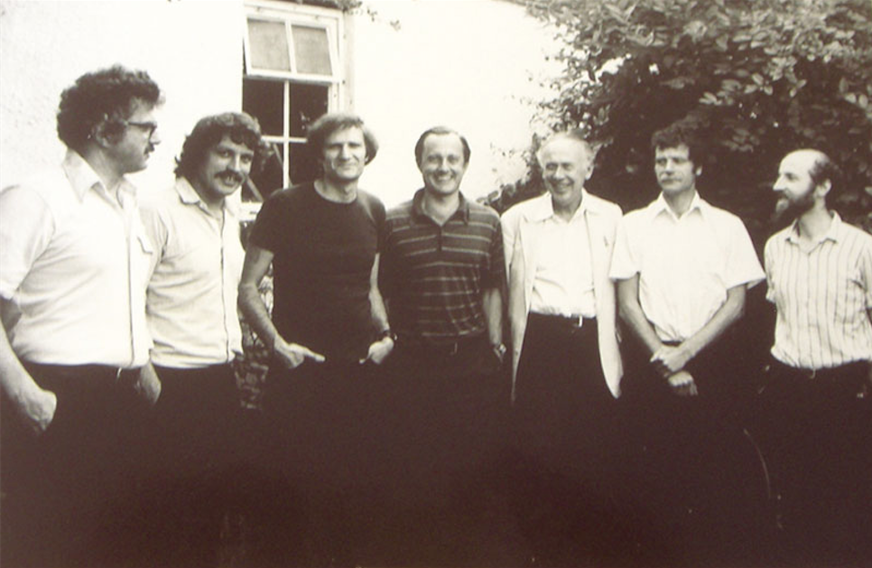 Authors and editor of the first Molecular Biology of the Cell, published in 1983. Image ©Keith Roberts.
