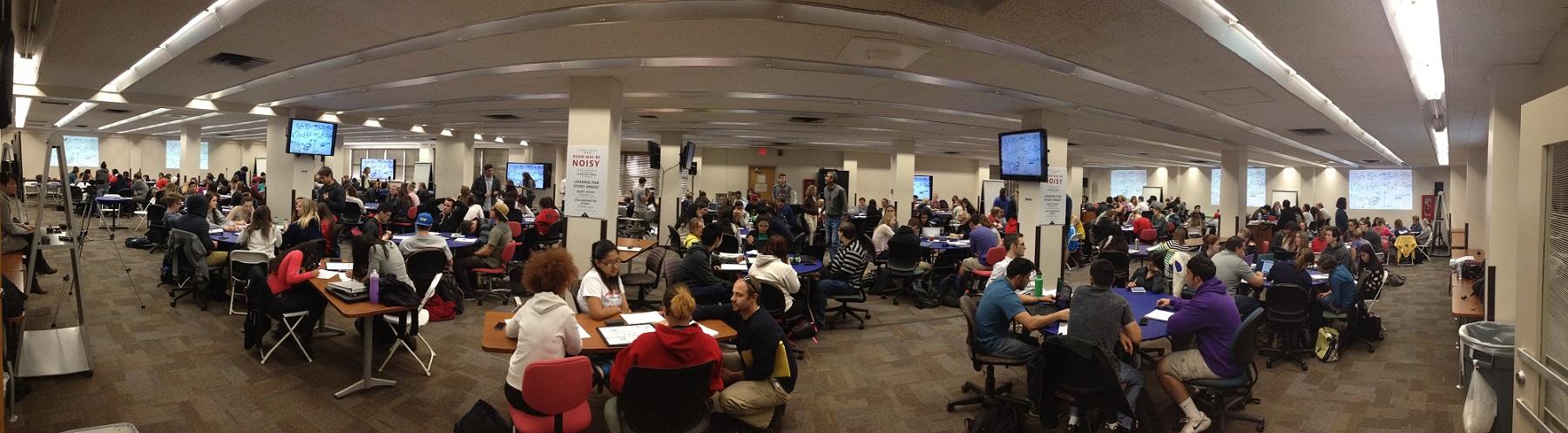 Image of a collaborative classroom from UA AAU Undergraduate STEM Education Project